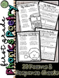 1st Grade Phonics Poetry and Response Sheets for Centers or Small Group