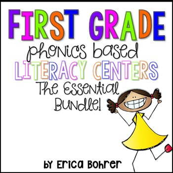 First Grade Phonics Based Literacy Centers {The Essential Bundle}