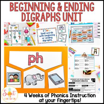 First Grade Phonics: Beginning and Ending Digraphs