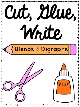 First Grade Phonics:  Blends and Digraphs Sentence Writing
