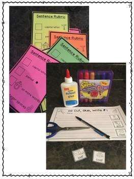 First Grade Phonics: Bossy R Sentence Writing