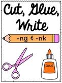 First Grade Phonics: Glued Sounds -ng and -nk Sentence Writing