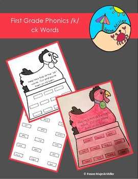 First Grade Phonics Digraph /k/ck Words