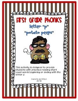 First Grade Phonics Freebie! Letter P Potato Peeps
