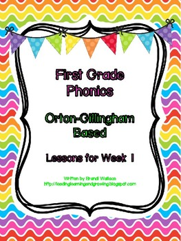 First Grade Phonics: Lesson 1 Closed Syllable Pattern