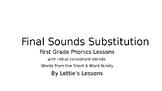 First Grade Phonics: CVC w Initial Blends Final Sound Substitutions Short a