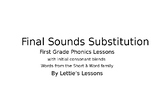 First Grade Phonics Lesson: Final Sound Substitutions Shor