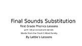 First Grade Phonics CVC w Initial Blends Final Sound Substitutions Short o Words