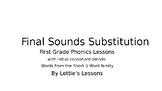 First Grade Phonics Final Sound Substitutions CVC w/ Initial Blend Short u Words