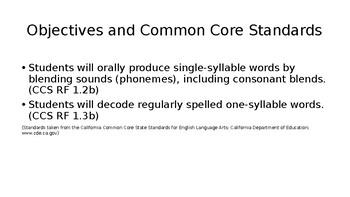 First Grade Phonics Lesson: Short a Flashcards Set- CVC words w/ initial blends