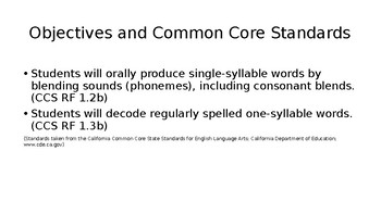 First Grade Phonics Lesson: Short e Flashcards Set- CVC words w/ initial blends