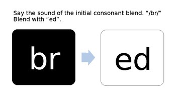 First Grade Phonics Lesson: -ed Word Family Set - Blend Segmenting Substitutions