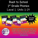 Back to School Bundle: 1st Grade Phonics! Level 1 Units 1-14