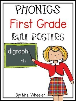 First Grade Phonics: Level 1 Phonics Rules Posters by Mrs