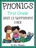 First Grade Phonics: Level 1, Unit 13