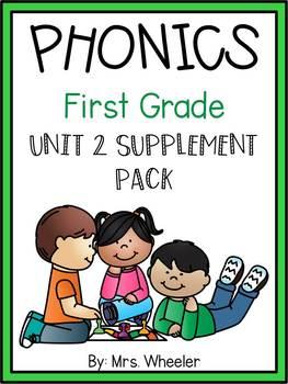 First Grade Phonics: Level 1, Unit 2