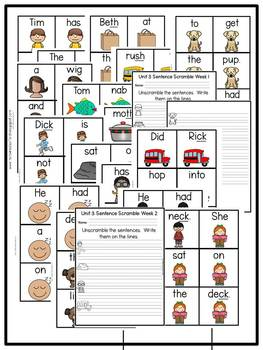 First Grade Phonics: Level 1, Unit 3