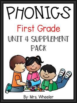 First Grade Phonics: Level 1, Unit 4