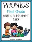 First Grade Phonics: Level 1, Unit 5