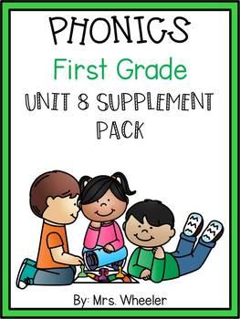 First Grade Phonics: Level 1, Unit 8