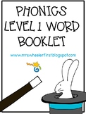 First Grade Phonics: Level 1 Word Book