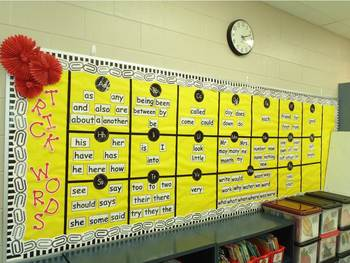 First Grade Phonics:  Level 1  Word Wall