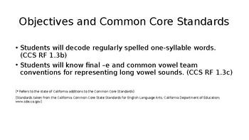 First Grade Phonics: Long Vowel Set Spelled CVCe & CVCe w/ initial blends