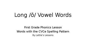 First Grade Phonics Long o Vowel Sound Spelled CVCe initial blends CVCe oa oe ow