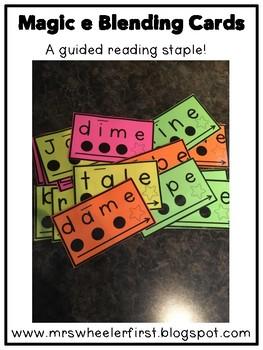 First Grade Phonics: Magic E Blending Cards