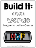 First Grade Phonics: Magnetic Letter CvC Mats