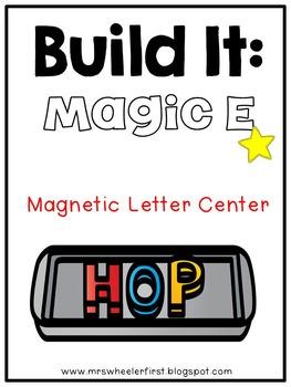 First Grade Phonics: Magnetic Letter Silent e Mats