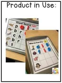 First Grade Phonics: Magnetic Letter Mats BUNDLE