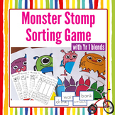 First Grade Phonics Monster Stomp Game and Worksheets:  Blends and Diagraphs