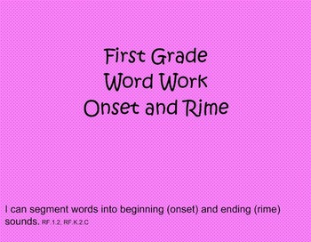 First Grade Phonics: Onset and Rime