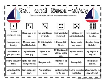First Grade Phonics Roll and Read Bundle