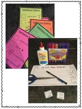 First Grade Phonics: Sentence Writing BUNDLE