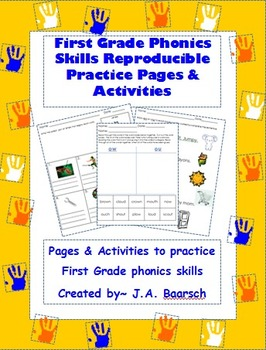 First Grade Phonics Skills Reproducible Practice Pages & Activities