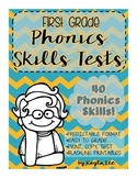 First Grade Phonics Skills Test Pack
