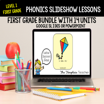 First Grade Phonics Slideshow Lesson using Powerpoint or Google Slides FREEBIE