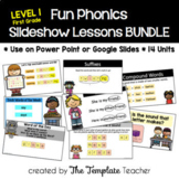 First Grade FUN Phonics Slideshow Lessons Bundle