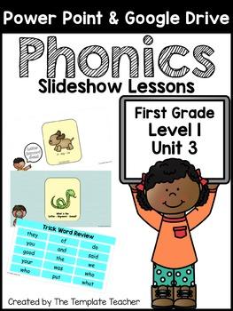 First Grade Phonics Slideshow Lessons - Unit 3 Week 2 Days 1 - 6