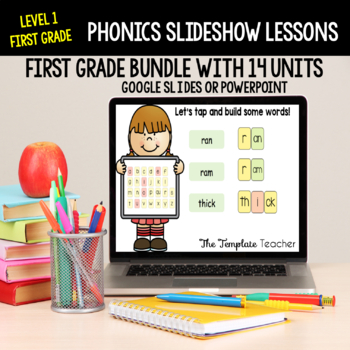 First Grade Phonics Slideshow Lessons Unit 6 Weeks 1 -  3