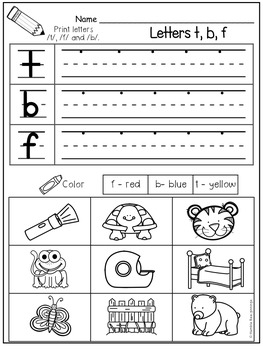 First Grade Phonics - Unit 1 Letters and Sounds