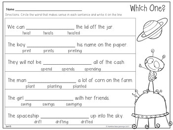 First Grade Phonics - Unit 10 Words with 5 Sounds, Suffixes and Glued Sounds