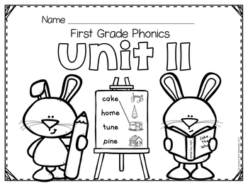 First Grade Phonics - Unit 11 Long Vowel Words (v-c-e)