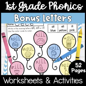 First Grade Phonics - Unit 4, Bonus Letters and Trick Words