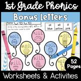 First Grade Phonics Unit 4 Bonus Letters and Trick Words