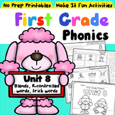 First Grade Phonics - Unit 8 Blends and r-Controlled Words