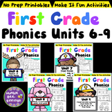 First Grade Phonics - Units 6-9 Bundle Distance Learning P