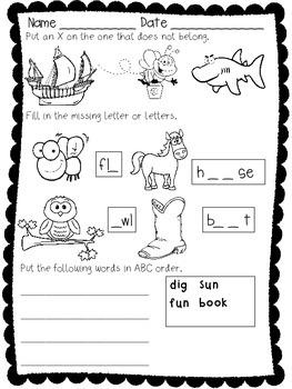 First Grade Phonics and Creative Writing FREEBIE